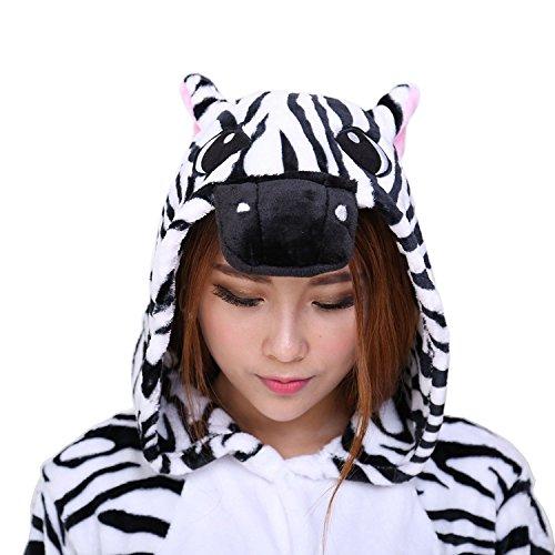 Imagen de abyed kigurumi pijamas unisexo adulto traje disfraz adulto animal pyjamas,cebra adulto talla s para altura150 158cm alternativa