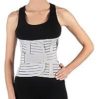 Soles - Faja lumbar - Soporte posterior lumbar - Corsé ajustable y transpirable - Unisex - Reduce el dolor de espalda y apoya la musculatura central - Diseño confortable (Grande)
