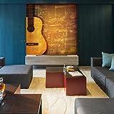 Gitarren-Musikblatt-Wandbild-Vintage-Musik-Foto-Tapete-Schlafzimmer-Haus-Dekor-Erhltlich-in-8-Gren-Extraklein-Digital