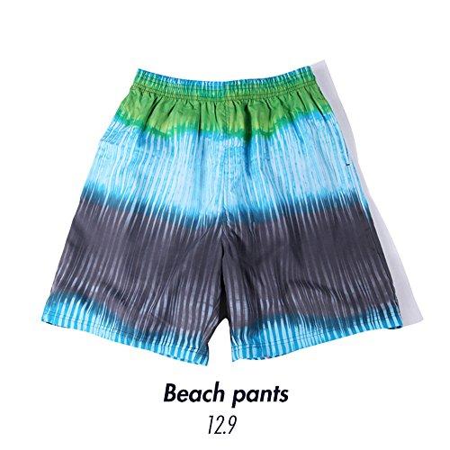 Amadoierly Männer Badeanzug gedruckt Strand Casual Hosen Quick-Drying federleichter Tragekomfort Weiche, Hellblau, 3XL (Gedruckt Cheerleader)
