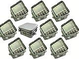 10x Junction Box mit 15Amp Stecker 65x 65x 30mm Wasserdicht IP44wetterfest Outdoor Externe Quadratisch Anschluss Box