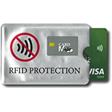 Card Minder RFID Blocking Anti Theft Secure Protector for Credit/Debit/ID/Oyster Cards - Prevent Fraud, Theft, Accidental and Clash Payments (1 Pack, Blocking Sleeve/Wallet)