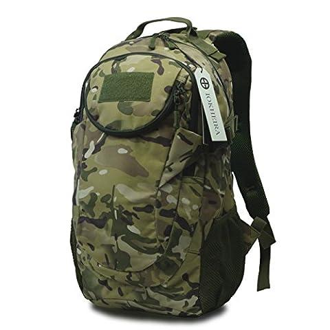 IOKHEIRA 25L 600D Nylon Outdoor Sport Tactical Military Backpack Rucksack Tactical Daypack Assault Combat Waterproof Backpack (CP Camo)