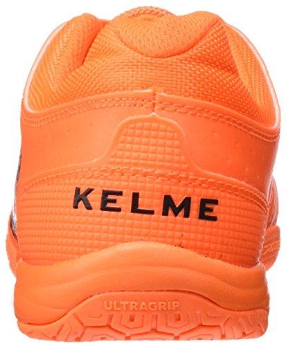 Kelme Subito 3.0, Chaussures de Football en Salle Homme Orange - Naranja Eléctrico