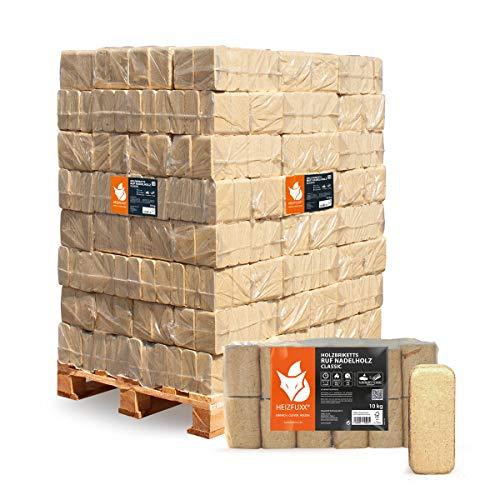 PALIGO Holzbriketts Ruf Nadelholz Kamin Ofen Brenn Holz Heiz Brikett 10kg x 96 Gebinde 960kg / 1 Palette Heizfuxx