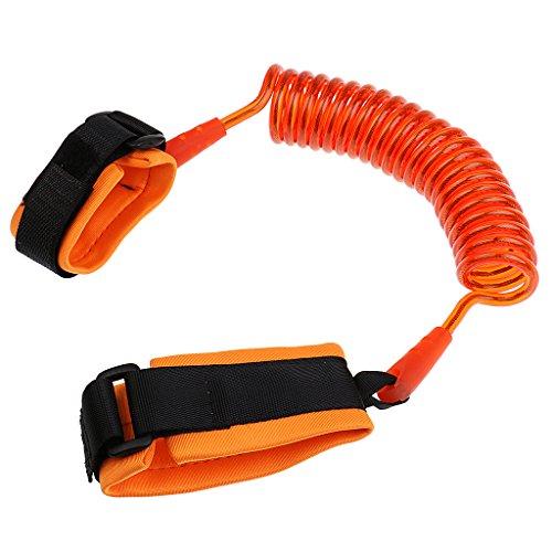 Gazechimp Sicherheitsgurt Leine Anti Lost Handgelenk Traktion Seil Armgelenk Band für Kinder - Orange, 2,5meter