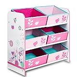 Aufbewahrungsregal - Spielzeugkiste - Kinderregal - Regal 6 Boxen Mädchen