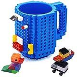 VANUODA Build-on Brick Mug, Tazas Desayuno, Regalo Ideal para Hombre - Chico - Chicas, Originales Regalo de Navidad (Azúl)