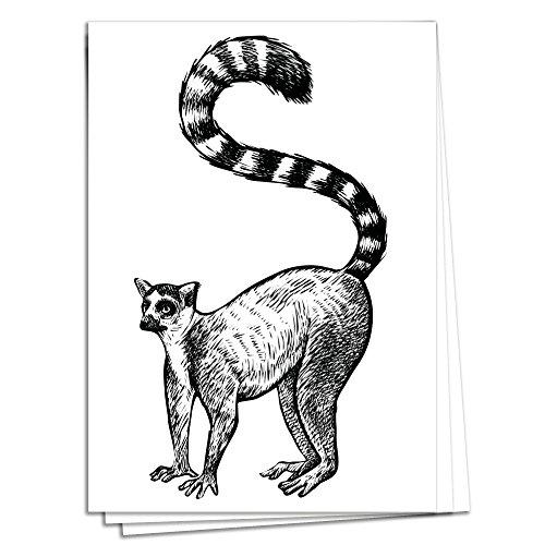 TYSK Design Postkarten Tiere aus Afrika - 10 Postkarten Lemur AFFE Karte Deko Geburtstag Gruß Glückwunsch Hochzeit Liebe Kindergeburtstag