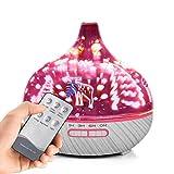 AA100 Fernbedienung ätherisches Öl-Diffusor, Ultraschall-Cool Mist Aromatherapie Humidifiers-400ml/7 Farbwechsellichter Mist Einstellung für Home Office Bedroom Spa,White