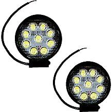 2X Faro faretto luce rotondo 9 LED 27W auto car fuoristrada supplementare C9L