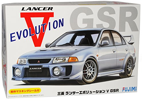 Preisvergleich Produktbild Mitsubishi Lancer Evolution V GSR Silber Limousine Kit Bausatz 1/24 Fujimi Modell Auto Modell Auto