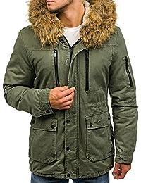 BOLF – Parka – capuche – fausse fourrure – d'hiver – Homme 100% Coton CAMO 4D4