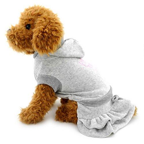 ranphy Kleine Hunde Samt Kleid abgestuftes Rock Hund Prinzessin Kleider Hoodie Gerippter Outfits Pet Kleidung für Welpen Katzen kleine Hunde
