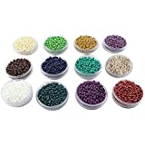 eshoppee Seed Beads for jewelery Making Set of 12 Colours, 20Gm X 12 Box