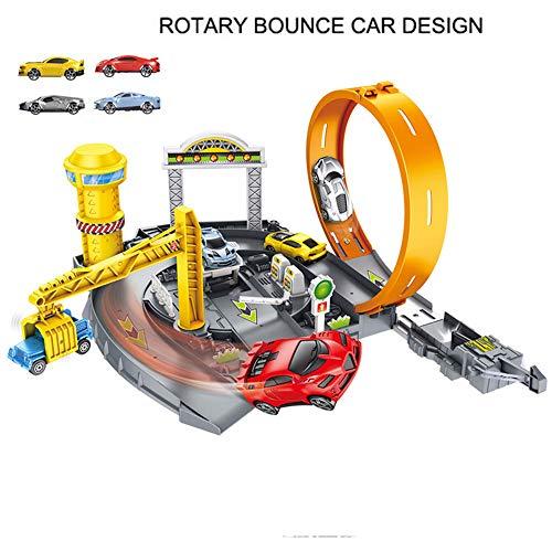 AOTE-D Engineering Auto Auswurf Parkplatz Spur Gebäude Auto 4 Autos Montage Montage DIY Spielzeug Junge Mädchen Kind Geschenk