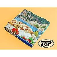 "100 Pizzakartons Pizzaboxen Pizzaschachteln Pizzaverpackung 20x20x4,2cm Motiv ""Mittelmeerküste"" Kraft Positano NYC"