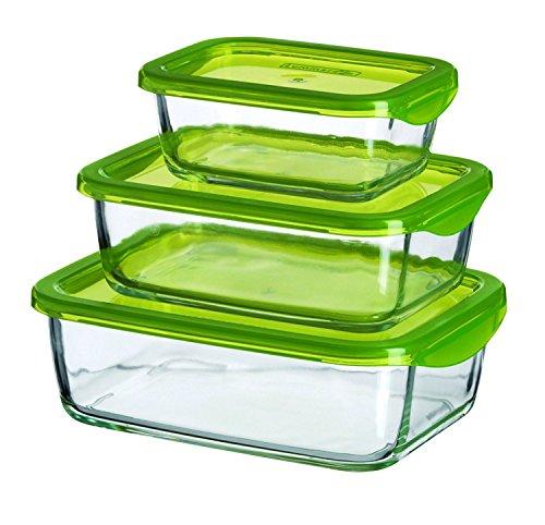 Luminarc Keep 923324 3-Piece Food Container Box Set 370/760/1160 mL Rectangular