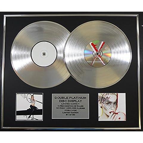 KYLIE MINOGUE/Cd doble Disco de Platino Record Display/Edicion LTD/Certificato di autenticità/BODY LANGUAGE & X