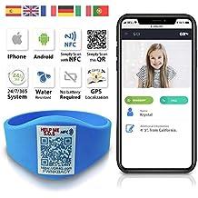 QR4g.com GPS. Pulsera identificativa con Tecnología QR NFC GPS para Niños (Azul