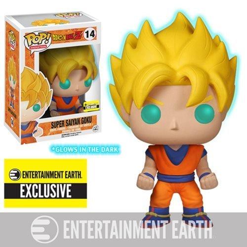 Dragonball Z Super Saiyan Goku POP! Figur Glows in The Dark 10 cm Exclusive (Dekorationen In Glow Dark Ideen The)
