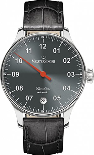 MeisterSinger circularis Clock with just a hand manifattura Caliper