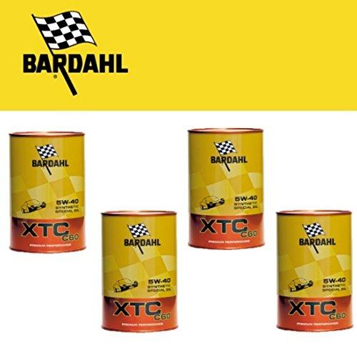 4 LT olio Motore Bardahl XTC C60 5w40 sintetico A3-B4 - API SN-CF