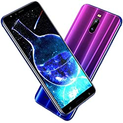 Smartphone Pas Cher 4G, J6(2019) 6.0 Pouces HD 3Go RAM + 16Go ROM/128Go Expansion Android 8.1 4800mAh 8MP+5MP Dual SIM Face ID GPS Bluetooth Téléphone Portable debloqué Pas Cher sans Forfait (Violet)
