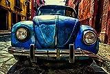 Wandbild 200x115cm VW KÄFER Fototapete Poster XL Tapete Oldtimer Klassiker Volkswagen WA63
