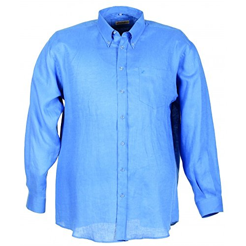 Camicia Maxfort Tommy taglie forti uomo - Arancione, 3XL