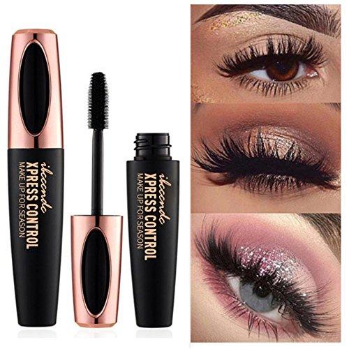 Allbesta Mascara fibre de soie 4D, allongement de cils extra long et mascara volume des cils Imperméable à l'eau longue durée Naturellement maquillage des yeux ne fleurit pas
