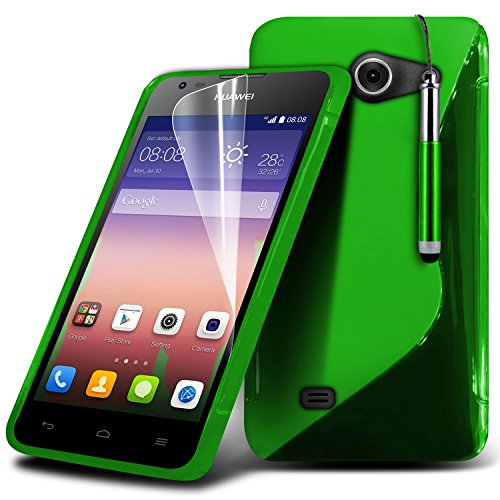-green-huawei-ascend-y550-case-protectives-line-wave-gel-case-skin-cover-with-lcd-screen-protector-g