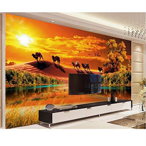 Pmhhc 3D Wallpaper Ästhetische Atmosphäre Wüste Greenwood Herbst Ideen Wohnzimmer Tv Hintergrund Wandbild-400X280Cm Greenwood Wallpaper