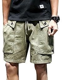Mengmiao Bermudas Cargo Shorts Hombres Pantalones Cortos Leisure Casual zxGuRGABrv