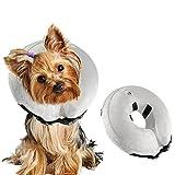 Ocamo Haustier Pflege Halsband Sch¨¹tzende aufblasbare Haustier Hundehalsband Soft Pet Grooming Halsband Pet Care Supplies Grau