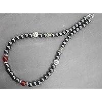 Collana di Thurcolas Venezia con perle dell'ematite e dell'agata rossa