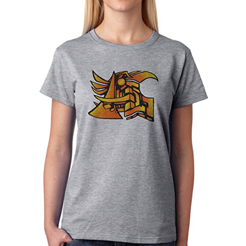 Graffitti Hip Hop Rap Logo Damen T-Shirt Grau