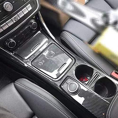 SHES AMG stile sportivo modello in fibra di carbonio ABS Central Control Gear Shift Portabicchieri Copertura del pannello Trim 3 pezzi/set per CLA GLA Classe A 2013-2018