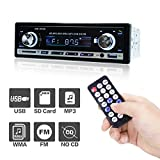 POMILE Autoradio MP3 mit Bluetooth, Single Din Auto Radio USB Empfänger MP3-Player Apple iPod/iPhone Control, Freisprechfunktion und integriertes Mikrofon Schwarz