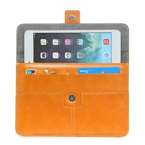 Einfarbig PU Lederetui Universal Tablet Tasche Tasche für 8 Zoll ( Color : Black ) Orange
