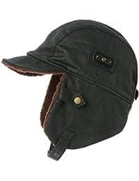 875821d48cb Siggi Faux Leather Aviator Pilot Cap Adult Men Winter Trapper Hunting Faux Fur  Hat Waterproof