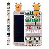Universecase Coque Samsung Galaxy A5 2017 Cute Chaussettes TPU Souple Etui de Protection Cadeau de Noël Jouet Squishy Kawaii Silicone Transparent Antichoc Incassable Case Cover