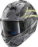 Shark Motorradhelm EVO-ONE 2 SKULD MAT AYK, Grau/Schwarz/Fluo, M