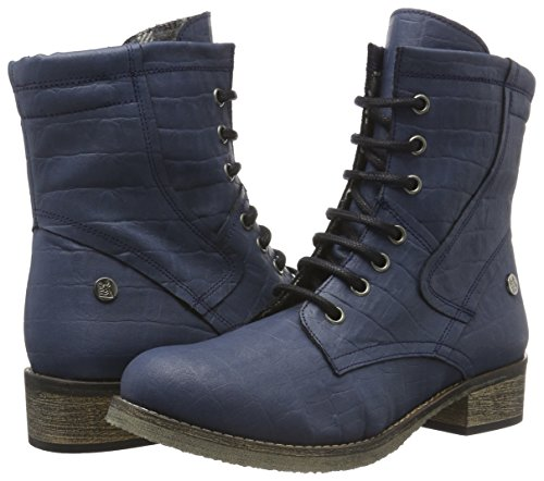 Jonny´s Vegan Damen Dagrun Combat Boots, Blau (Marino 1), 42 EU - 5