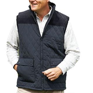 Men's Champion Country Estate Arundel Fleece Lined BodyWarmer Gilet Outerwear (L, BLACK)