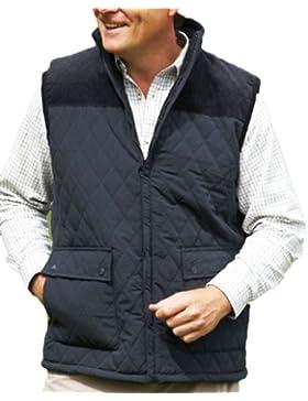 New Champion Country Estate chaleco acolchado chaleco para exteriores para hombre diseño de rombos chaqueta de...