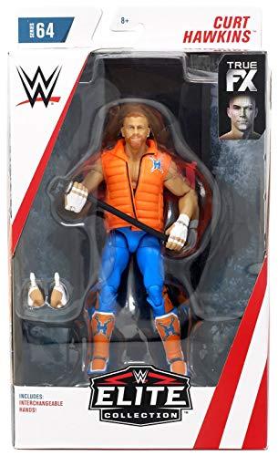 WWE Elite Figura de Acción Luchador Curt Hawkins, Juguetes Niños 8 Años (Mattel GCL24)