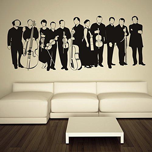 Orchester-Klassisch-Musiker-Band-Logos-Wandsticker-Musik-Dekor-Art-Decals-verfgbar-in-5-Gren-und-25-Farben-X-Gro-Moos-Grn