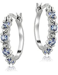 Sterling Silver 4/5ct TDW Champagne & White Diamond Teardrop Dangle Earrings 21.5 Ud4zRf
