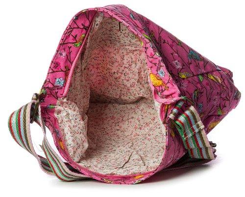 Big Handbag Shop, Borsa a tracolla donna One Rosa (Light Pink)